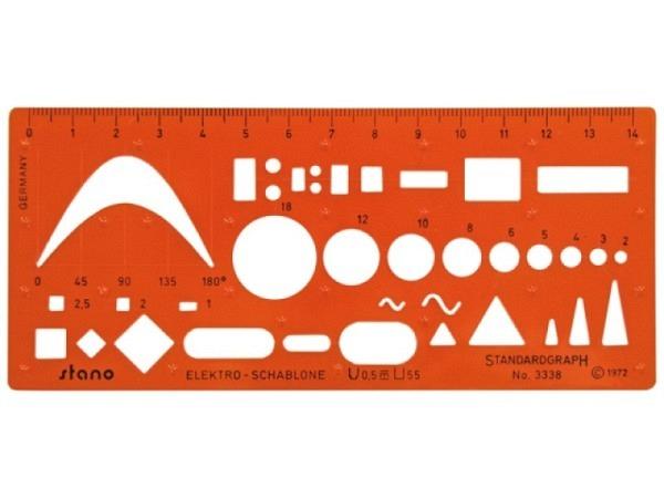 Schablone Standardgraph Elektro Stano 3338