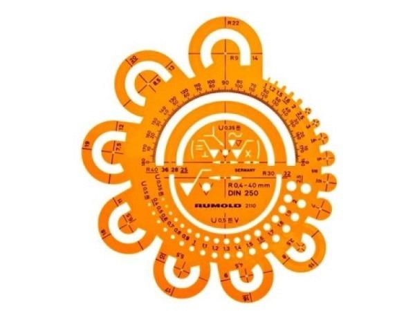 Schablone Rumold Abrundungsschablone 0,4-40mm 2110