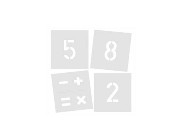 Schriftschablone Standardgraph Signierschablone 100m 0-9