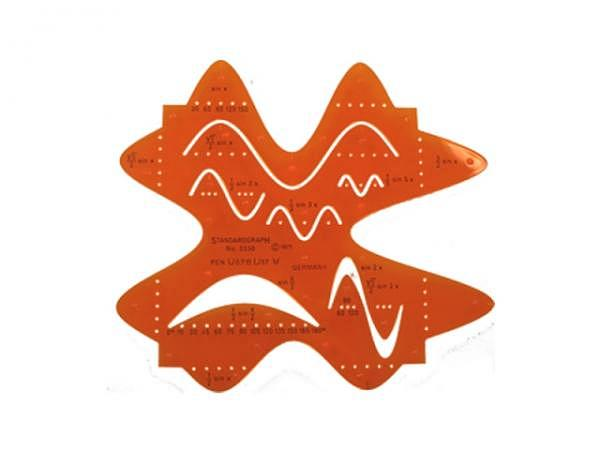Schablone Standardgraph Sinuskurven 12 Kurven