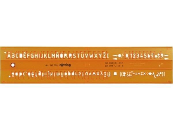 Schriftschablone Standardgraph 5mm Buchstaben,Zahlen