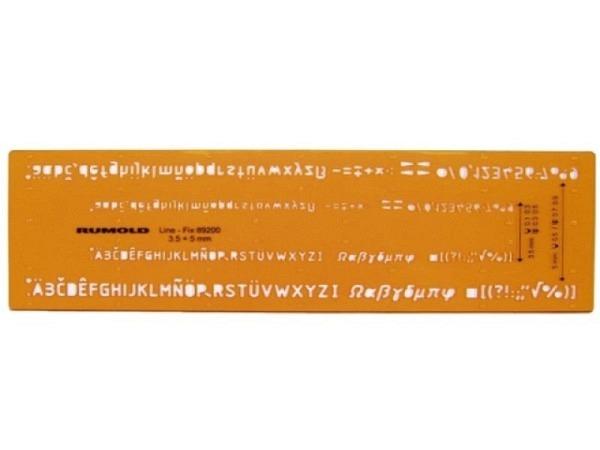 Schriftschablone Standardgraph Isonorm Kombi-Schablone