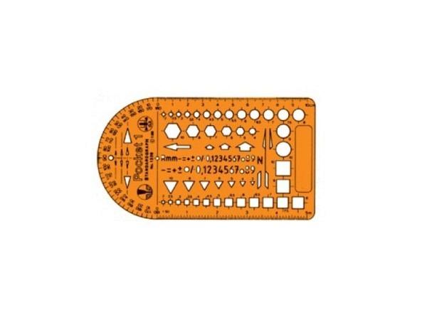 Schablone Standardgraph Kombischablone Pocket 1 1326