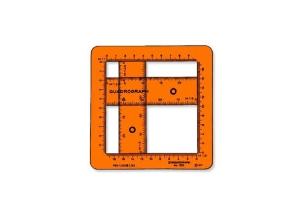 Schablone Standardgraph Quadrograph 7010