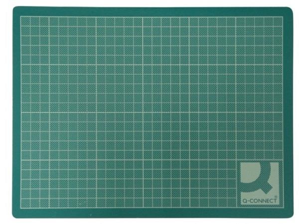 Schneidmatte Q-Connect grün 45x60cm, 3mm dick