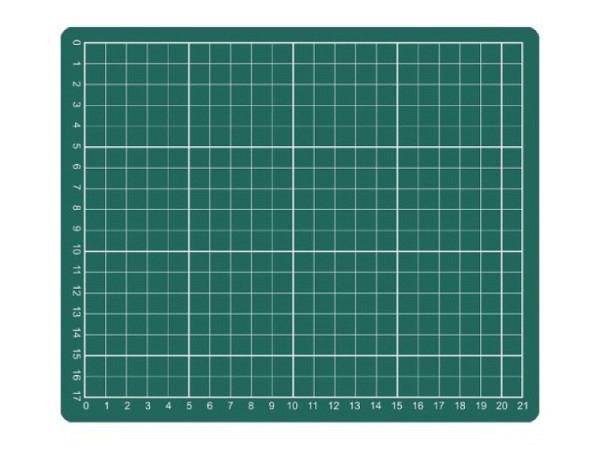 Schneidmatte Artoz 220x330mm transparent mit weisser Skala