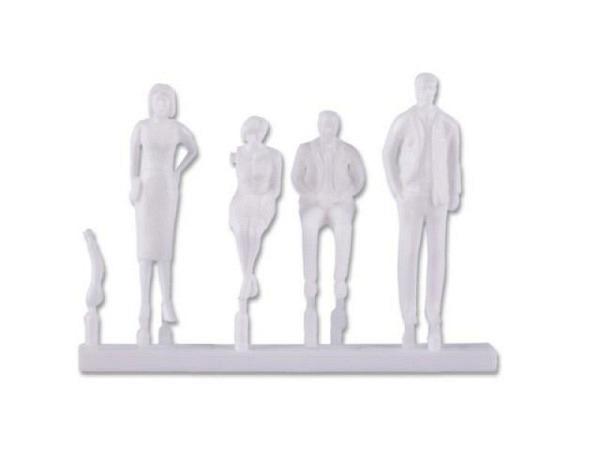 Figuren Detail 1:24 weiss 3 Passanten, 2 Männer und 1 Frau