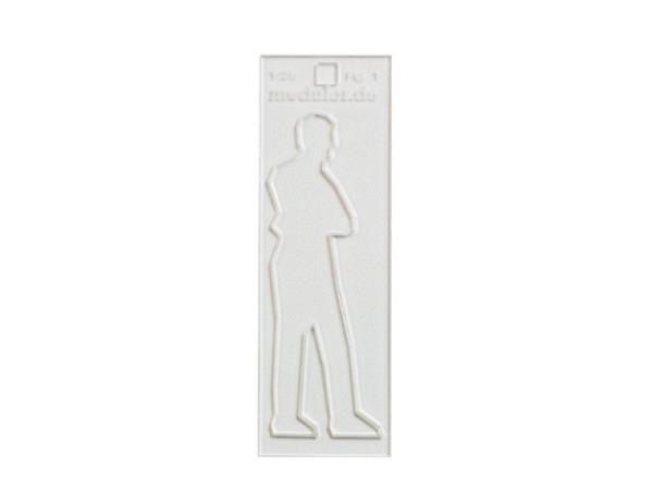 Figuren transparent Mann 1:25 gegossenes Acrylglas