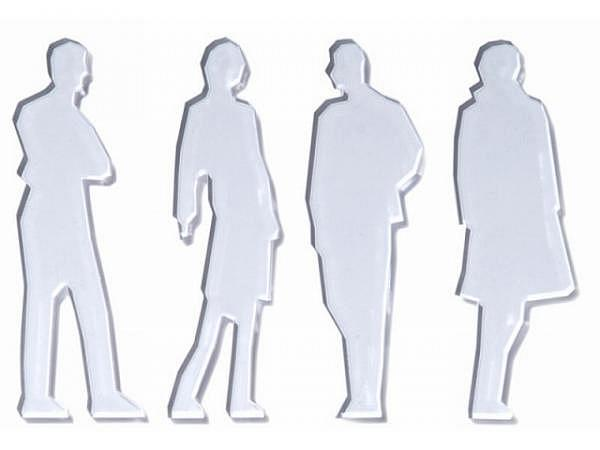 Figuren transparent Frau 1:25 gegossenes Acrylglas