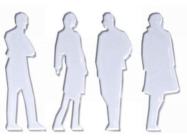 Figuren transparent 25 Figuren 1:200 gegossenes Acrylglas