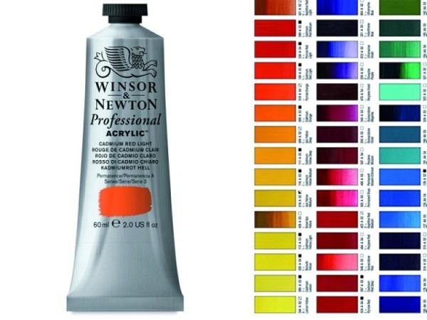 Akryl Winsor Newton Artist Kadmiumrot Hell, 60ml Farbnr 100