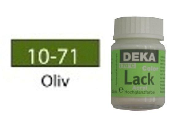 Akryl Deka Lack 25ml oliv 10-71, volldeckender Lackglanz