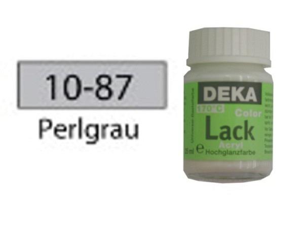 Akryl Deka Lack 25ml perlgrau 10-87 volldeckender Lackglanz