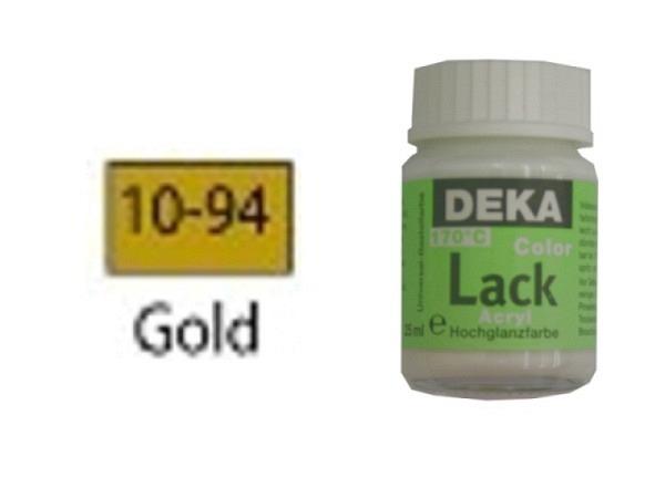 Akryl Deka Lack 25ml gold 10-94 volldeckender Lackglanz