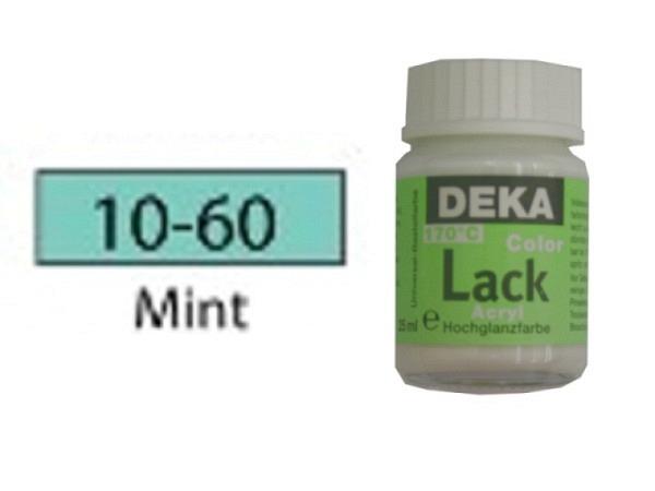 Akryl Deka Lack 25ml mint 10-60, volldeckender Lackglanz