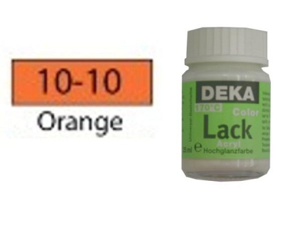 Akryl Deka Lack 25ml orange 10-10 volldeckender Lackglanz