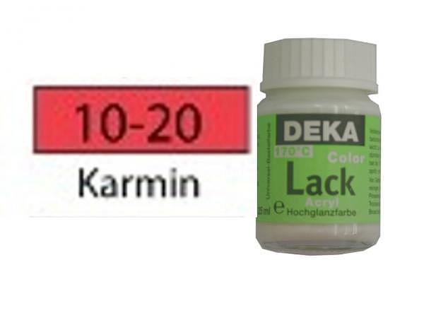 Akryl Deka Lack 25ml karmin 10-20 volldeckender Lackglanz