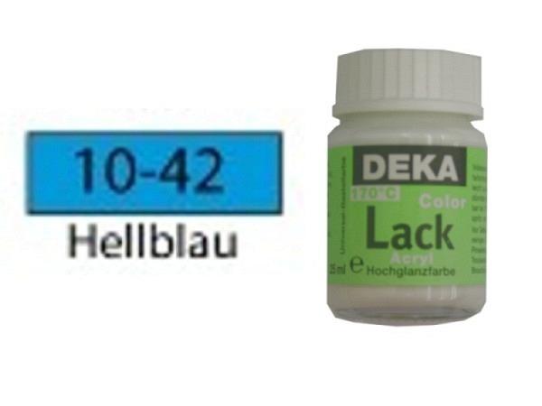 Akryl Deka Lack 25ml hellblau 10-42, volldeckender Lackglanz