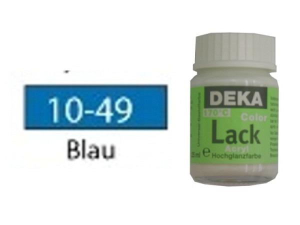 Akryl Deka Lack 25ml blau 10-49 volldeckender Lackglanz