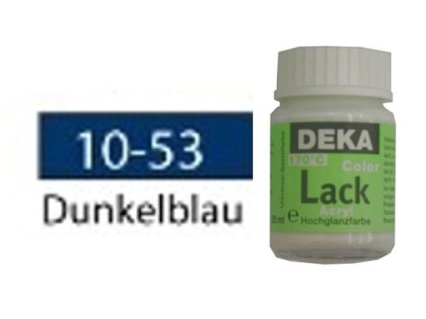 Akryl Deka Lack 25ml dunkelblau 10-53 volldeckender Lackglan