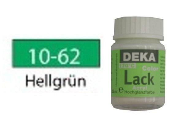 Akryl Deka Lack 25ml hellgrün 10-62, volldeckender Lackglanz