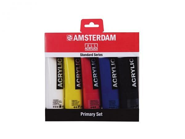 Akryl Talens Amsterdam Standard 5er Set 120ml, Primärfarben