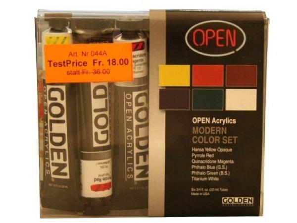 Akryl Golden Open Set 6 Tuben à 22ml Modern Color