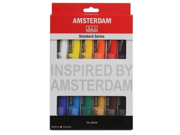 Akryl Talens Amsterdam Standard Set General Selection 12x20ml