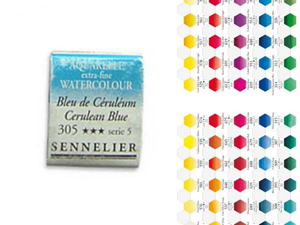 Aquarell Sennelier l'Aquarelle 1/2 Napf krapplack dunkel 689