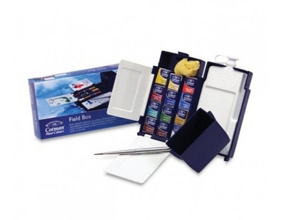 Aquarell Winsor Newton Cotman 12er Set Field Box 12 1/2Näpfe