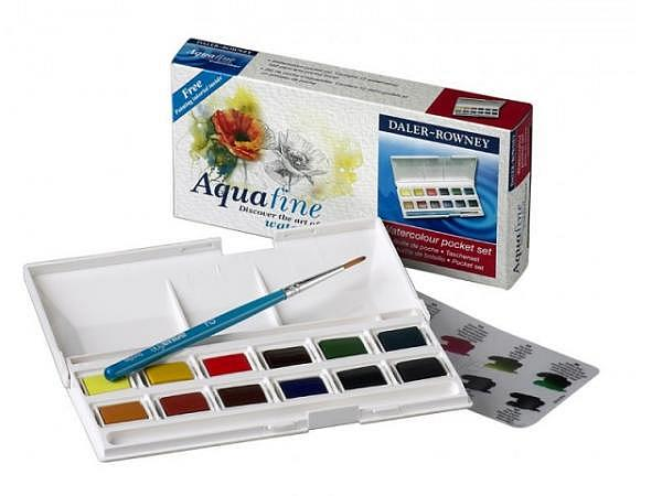 Aquarell Daler-Rowney Aquafine Pocket Set 12