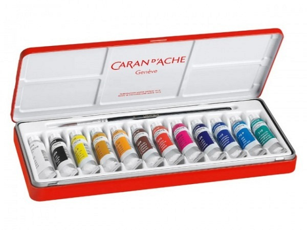 Gouache Caran dAche Studio Set Metall 12Tuben 10ml