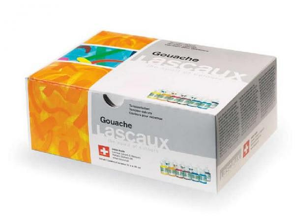 Gouache Lascaux Set Karton 12Flaschen 30ml