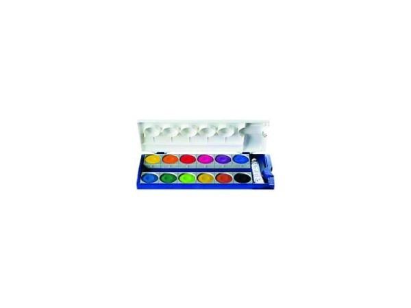 Gouache Pelikan Set Kunststoff 12 Farben 1Tube Deckweiss