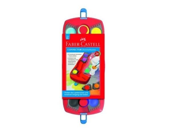 Gouache Faber-Castell Connector Malkasten mit 24 Farben
