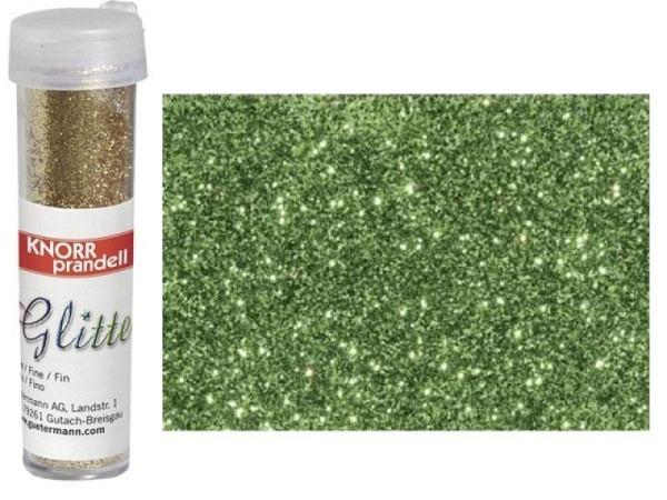 Glitter Knorr-Prandell Streuer 7g lindgrün, feiner Glimmer