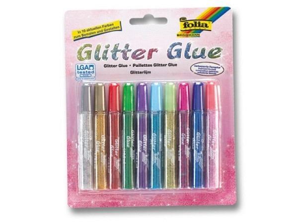 Glimmerleim Folia Glitter Glue Metallic 10er-Set