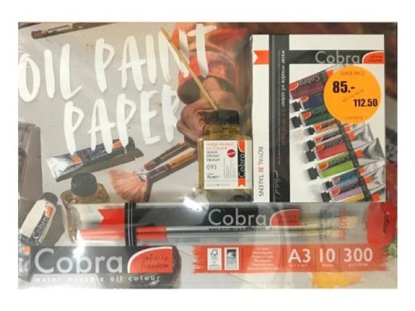 Oel Talens Cobra wasservermalbar Colour Mixing Set 5x20ml