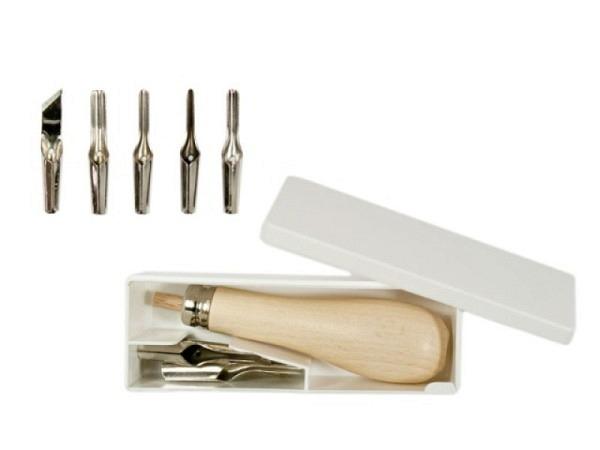 Linolschnittwerkzeug Abig 5 handgeschliffene Werkzeug 0,6mm