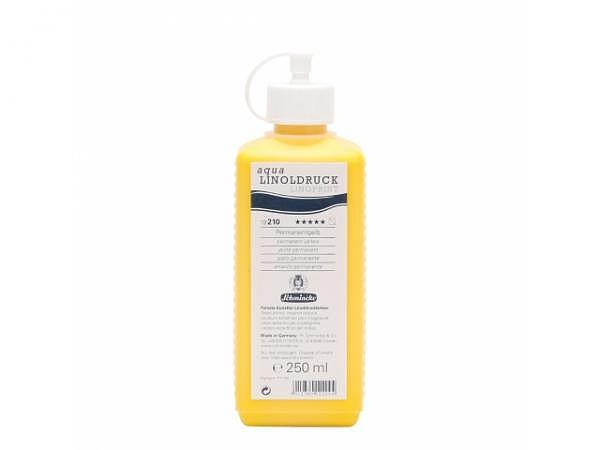 Linoldruckfarbe Schmincke Flasche 250ml permanentgelb 210