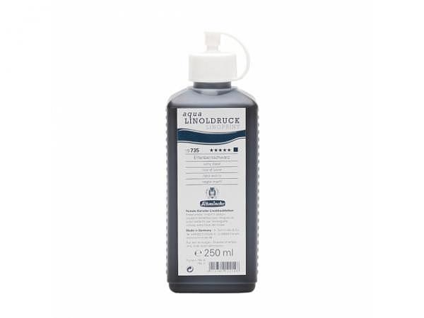 Linoldruckfarbe Schmincke Flasche 250ml elfenbeinschwarz 735