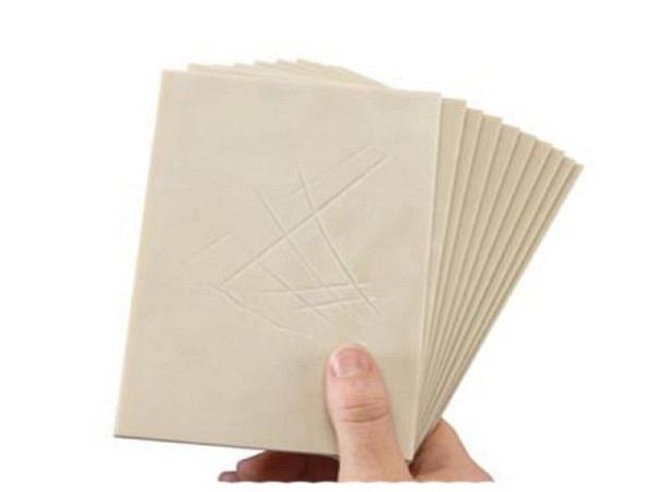 Linolplatte Essdee Softcut 10x15cm 3mm, beige-graue Platte