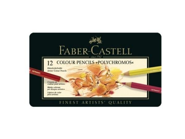 Farbstift Faber-Castell Polychromos 12er Metalletui