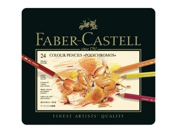 Farbstift Faber-Castell Polychromos 24er Metalletui