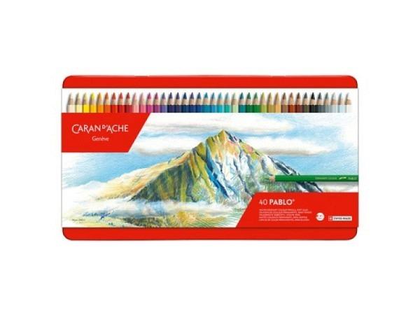 Farbstift Caran dAche Pablo 40er Metalletui