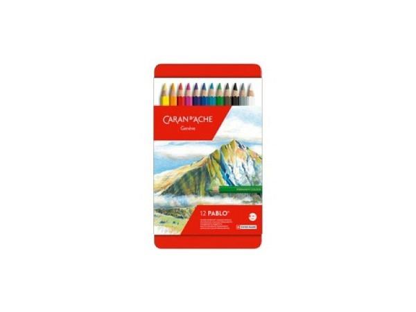 Farbstift Caran dAche Pablo 12er Metalletui