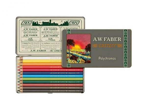 Farbstift Faber-Castell Polychromos 12er Metalletui Sonderedition