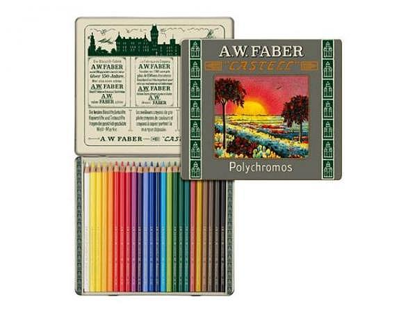 Farbstift Faber-Castell Polychromos 24er Metalletui Sonderedition