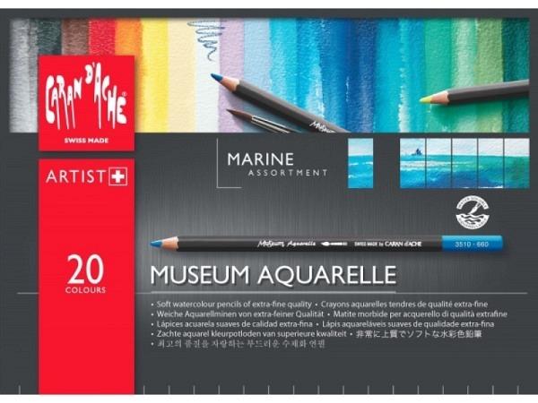 Farbstift Caran dAche Museum Aquarelle Set 20Stk