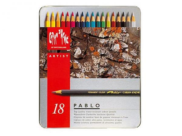 Farbstift Caran dAche Pablo 18er Metalletui